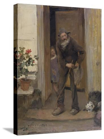 The Beggar, 1881-Jules Bastien-Lepage-Stretched Canvas Print