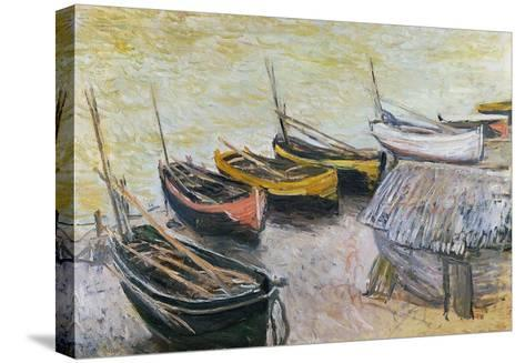 Boats on the Beach, 1883-Claude Monet-Stretched Canvas Print