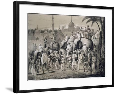Lucknow, the Principal Street, from 'Voyages in India', 1859 (Litho)-A. Soltykoff-Framed Art Print