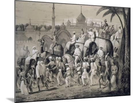 Lucknow, the Principal Street, from 'Voyages in India', 1859 (Litho)-A. Soltykoff-Mounted Giclee Print