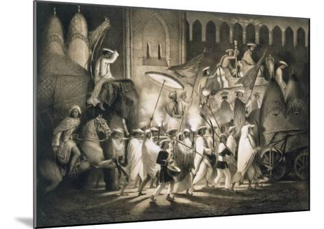 Delhi: Cortege and Retinue of the Great Moghul, from 'Voyages in India', 1859 (Litho)-A. Soltykoff-Mounted Giclee Print