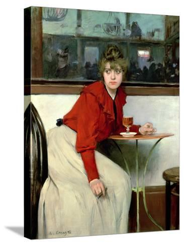Chica in a Bar, 1892-Ramon Casas i Carbo-Stretched Canvas Print