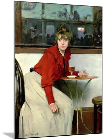 Chica in a Bar, 1892-Ramon Casas i Carbo-Mounted Giclee Print