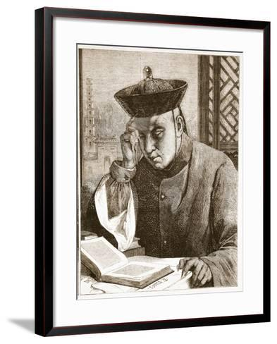 The Occidentalist, Illustration from 'The Illustrated London News', 1861 (Litho)-Theodore Delamarre-Framed Art Print