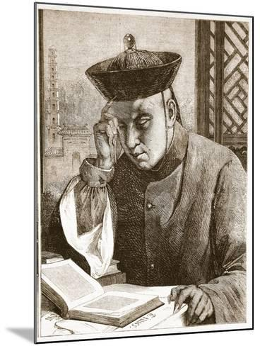 The Occidentalist, Illustration from 'The Illustrated London News', 1861 (Litho)-Theodore Delamarre-Mounted Giclee Print