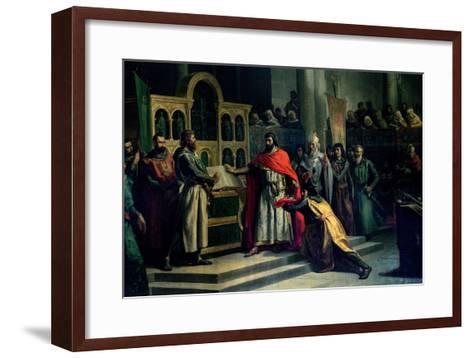 The Oath of Santa Gadea, El Cid Campeador (C.1043-99) Extracts Oath from Alfonso VI (C.1040-1109)-Marcos Hiraldez De Acosta-Framed Art Print