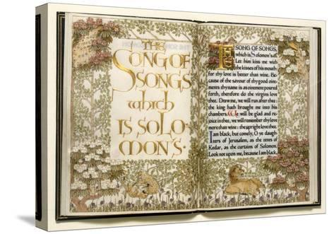Illuminated Copy of the Old Testament (Vellum)-English-Stretched Canvas Print