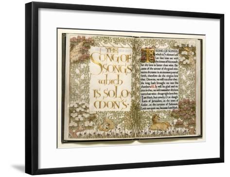 Illuminated Copy of the Old Testament (Vellum)-English-Framed Art Print