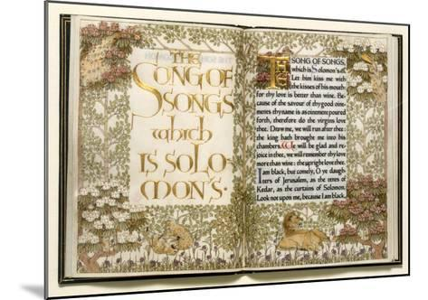 Illuminated Copy of the Old Testament (Vellum)-English-Mounted Giclee Print