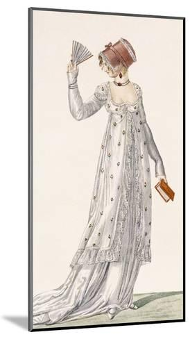 Ladies Evening Dress, Fashion Plate from Ackermann's Repository of Arts, Pub. 1814-English-Mounted Giclee Print
