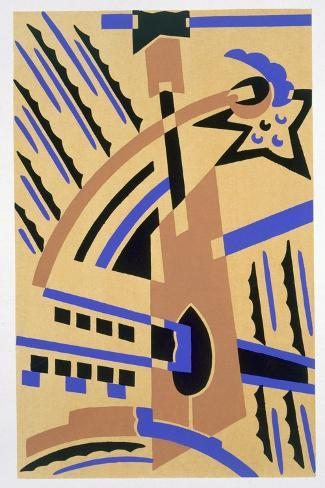 Design from 'Nouvelles Compositions Decoratives', Late 1920S (Pochoir Print)-Serge Gladky-Stretched Canvas Print