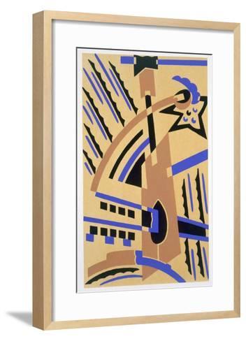 Design from 'Nouvelles Compositions Decoratives', Late 1920S (Pochoir Print)-Serge Gladky-Framed Art Print