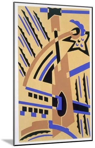Design from 'Nouvelles Compositions Decoratives', Late 1920S (Pochoir Print)-Serge Gladky-Mounted Giclee Print