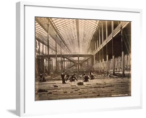 North Court, 21st February, 1862 (B/W Photo)-English Photographer-Framed Art Print