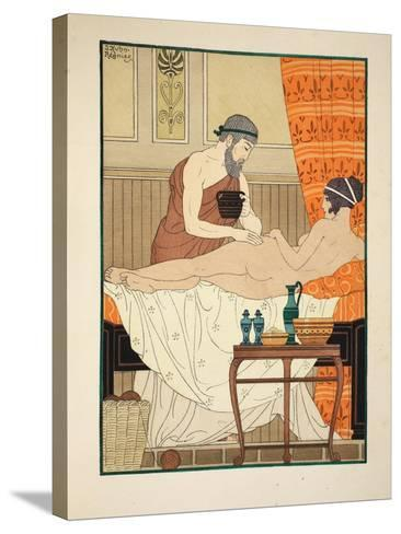 Application of White Egyptian Perfume to the Hip, Illustration from 'The Works of Hippocrates' 1934-Joseph Kuhn-Regnier-Stretched Canvas Print