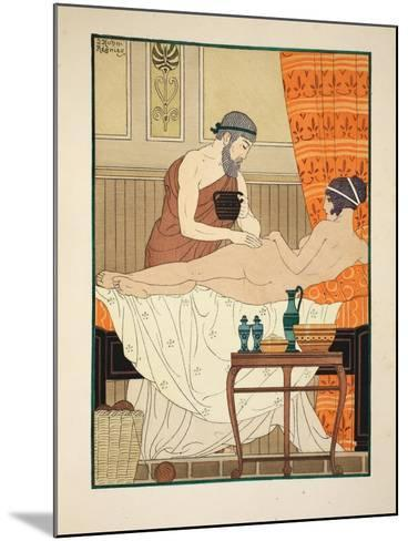 Application of White Egyptian Perfume to the Hip, Illustration from 'The Works of Hippocrates' 1934-Joseph Kuhn-Regnier-Mounted Giclee Print