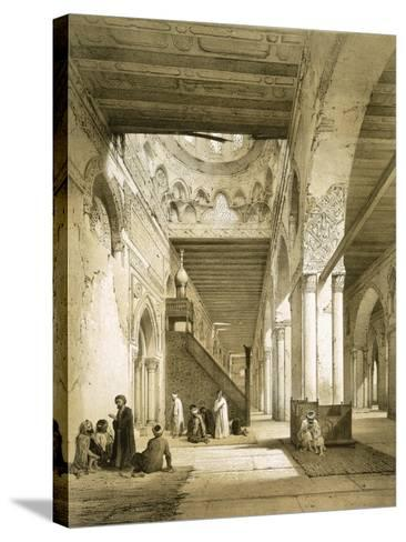 Interior of the Maqsourah in the 9th Century Mosque of Ahmed Ibn-Touloun, Cairo (Litho)-Philibert Joseph Girault de Prangey-Stretched Canvas Print