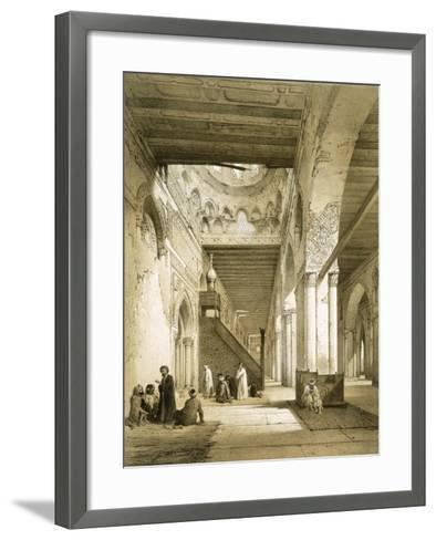 Interior of the Maqsourah in the 9th Century Mosque of Ahmed Ibn-Touloun, Cairo (Litho)-Philibert Joseph Girault de Prangey-Framed Art Print