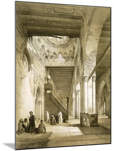 Interior of the Maqsourah in the 9th Century Mosque of Ahmed Ibn-Touloun, Cairo (Litho)-Philibert Joseph Girault de Prangey-Mounted Giclee Print