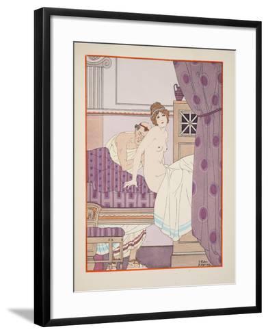 Breath Sounds, Illustration from 'The Works of Hippocrates', 1934 (Colour Litho)-Joseph Kuhn-Regnier-Framed Art Print