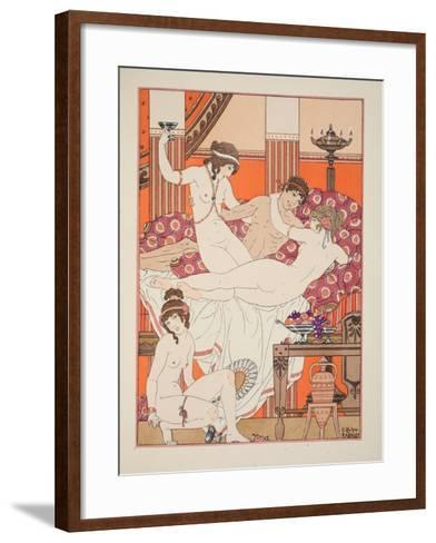 Excess of Wine and Women, Illustration from 'The Works of Hippocrates', 1934 (Colour Litho)-Joseph Kuhn-Regnier-Framed Art Print