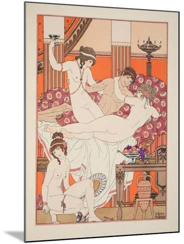 Excess of Wine and Women, Illustration from 'The Works of Hippocrates', 1934 (Colour Litho)-Joseph Kuhn-Regnier-Mounted Giclee Print