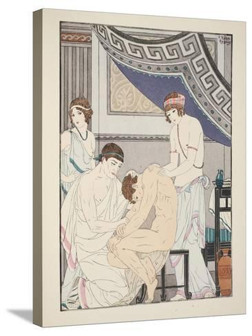 Chiropractic Adjustment, Illustration from 'The Works of Hippocrates', 1934 (Colour Litho)-Joseph Kuhn-Regnier-Stretched Canvas Print
