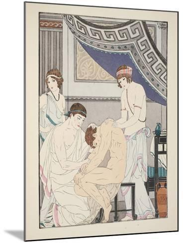 Chiropractic Adjustment, Illustration from 'The Works of Hippocrates', 1934 (Colour Litho)-Joseph Kuhn-Regnier-Mounted Giclee Print