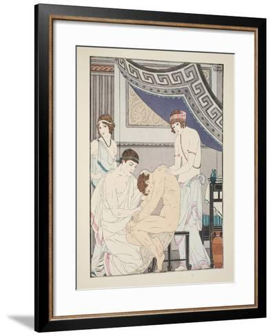 Chiropractic Adjustment, Illustration from 'The Works of Hippocrates', 1934 (Colour Litho)-Joseph Kuhn-Regnier-Framed Art Print