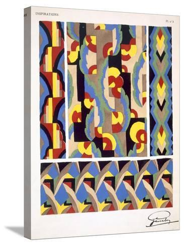 Plate 3, from 'Inspirations', Published Paris, 1930S (Colour Litho)- Gandy-Stretched Canvas Print