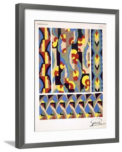 Plate 3, from 'Inspirations', Published Paris, 1930S (Colour Litho)- Gandy-Framed Art Print