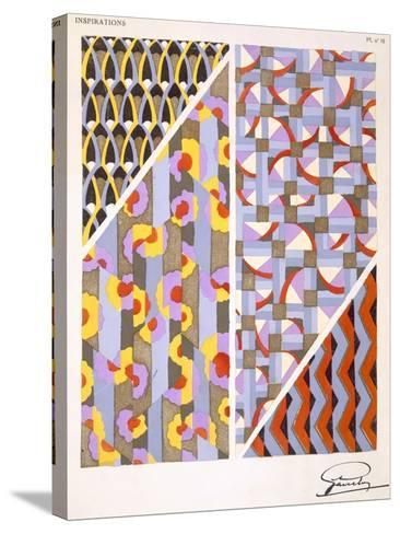 Plate 18, from 'Inspirations', Published Paris, 1930S (Colour Litho)- Gandy-Stretched Canvas Print