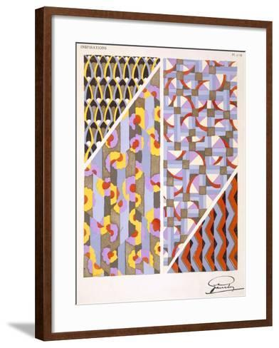 Plate 18, from 'Inspirations', Published Paris, 1930S (Colour Litho)- Gandy-Framed Art Print