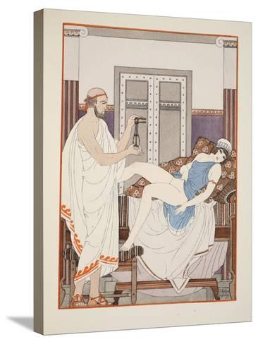 Gynaecological Examination, Illustration from 'The Works of Hippocrates', 1934 (Colour Litho)-Joseph Kuhn-Regnier-Stretched Canvas Print