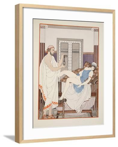 Gynaecological Examination, Illustration from 'The Works of Hippocrates', 1934 (Colour Litho)-Joseph Kuhn-Regnier-Framed Art Print