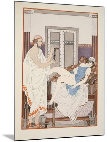 Gynaecological Examination, Illustration from 'The Works of Hippocrates', 1934 (Colour Litho)-Joseph Kuhn-Regnier-Mounted Giclee Print