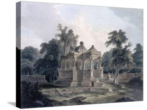 Hindu Temple in the Fort of the Rohtas, Bihar, India (W/C on Paper)-Thomas Daniell-Stretched Canvas Print