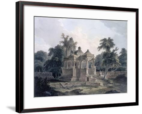 Hindu Temple in the Fort of the Rohtas, Bihar, India (W/C on Paper)-Thomas Daniell-Framed Art Print