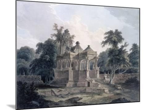 Hindu Temple in the Fort of the Rohtas, Bihar, India (W/C on Paper)-Thomas Daniell-Mounted Giclee Print