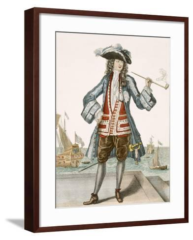 Captain Jean Bart of Dunkerque (Coloured Engraving)-French-Framed Art Print