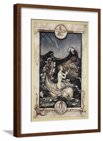 To Hear the Sea-Maids Music, Illustration from 'Midsummer Nights Dream' by William Shakespeare 1908-Arthur Rackham-Framed Art Print