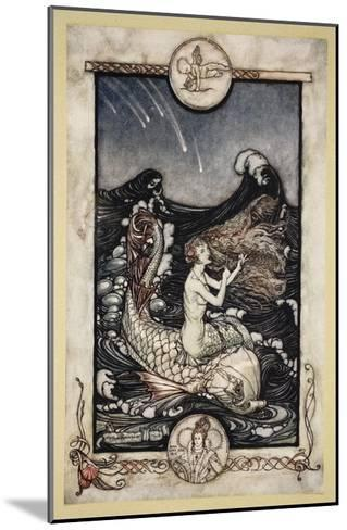 To Hear the Sea-Maids Music, Illustration from 'Midsummer Nights Dream' by William Shakespeare 1908-Arthur Rackham-Mounted Giclee Print