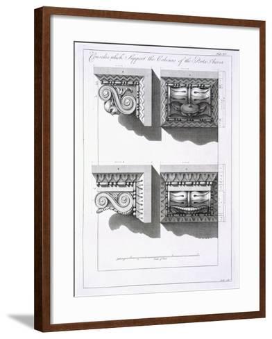 Consoles Which Support Columns of the Porta Aurea-Robert Adam-Framed Art Print