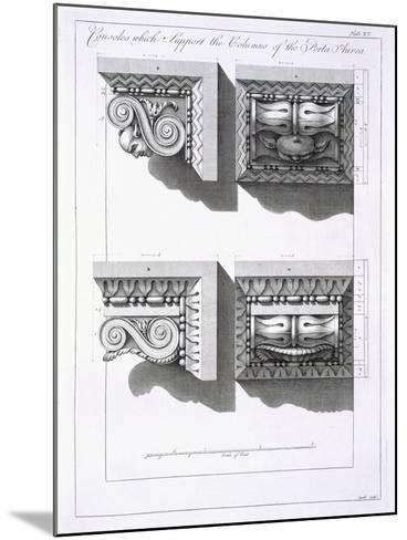 Consoles Which Support Columns of the Porta Aurea-Robert Adam-Mounted Giclee Print
