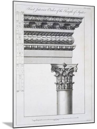 Order of the Portico to the Vestibulum in the Peristylium-Robert Adam-Mounted Giclee Print