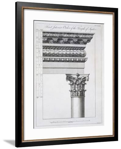 Order of the Portico to the Vestibulum in the Peristylium-Robert Adam-Framed Art Print