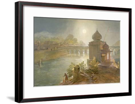 Indore, from 'India Ancient and Modern', 1867 (Colour Litho)-William 'Crimea' Simpson-Framed Art Print