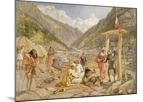 Pilgrims at Gangootree, from 'India Ancient and Modern', 1867 (Colour Litho)-William 'Crimea' Simpson-Mounted Giclee Print