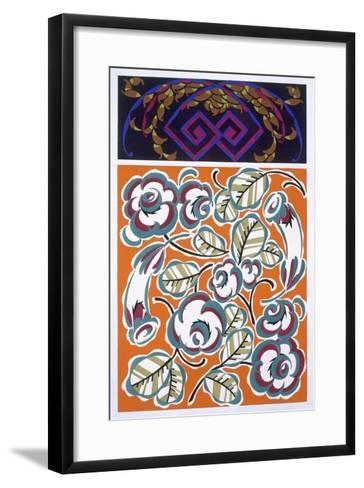 Interior Design Pattern, Plate 4 from 'Formes Et Couleurs', Published C.1930 (Colour Litho)-Auguste H^ Thomas-Framed Art Print