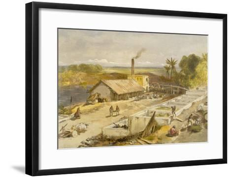 Indigo Factory - Bengal, from 'India Ancient and Modern', 1867 (Colour Litho)-William 'Crimea' Simpson-Framed Art Print